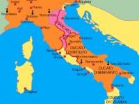 19.- Mappa italia bizantina e longobarda