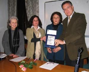 Imelde Rosa Pellegrini, Mariangela e Aparecida Zulian, Alessio Alessandrini, presidente dell'UTE del Portogruarese