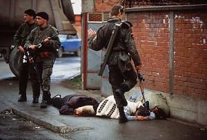 Commando paramilitare serbo e corpi di civili musulmani fucilati:Bilijenia 1992