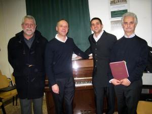 Da sinistra: Giovanni Comisso, Paolo Scodellaro, Michele Minuzzo e Mario Tatalo